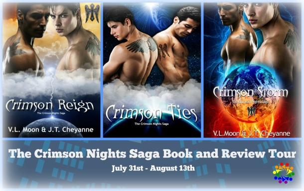 Blog Tour: Interview & Giveaway -- V.L Moon & J.T Cheyanne - The Crimson Nights Saga